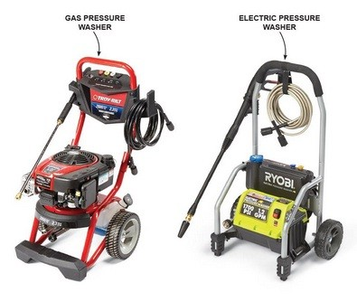 Electric vs. Gas Pressure Washer