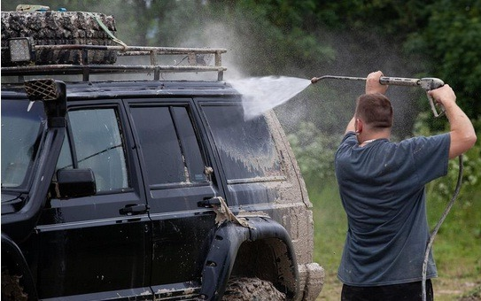 Wash Your Car with a Pressure Washer